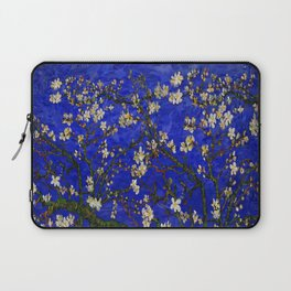 Abstract Daisy with Blue Background Laptop Sleeve