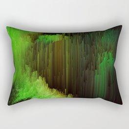 Ectoplasm - Abstract Glitchy Pixel Art Rectangular Pillow