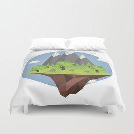 Mountains World Duvet Cover