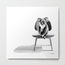 Koala on eames chair Metal Print