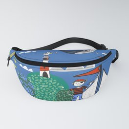 Pirates Ahoy Blue Fanny Pack