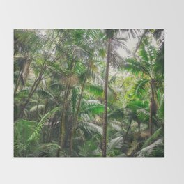 Tropical Forest Throw Blanket