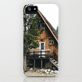 wild cabin in the northwest iPhone Case