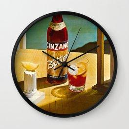 Vintage Bitter Cinzano Advertisement Poster Wall Clock