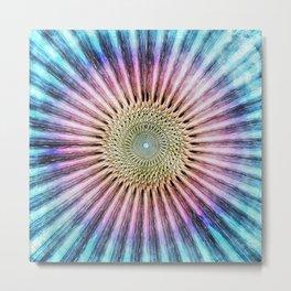Textured Mandala Tie Dye Metal Print