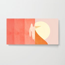 Abstraction_Sailing_Ocean_001 Metal Print