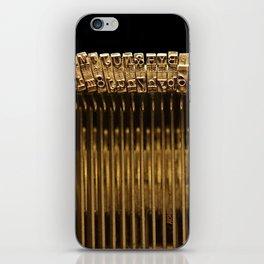 Remington Type Bars iPhone Skin