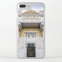 Secession building in Vienna Austria art nouveau Clear iPhone Case