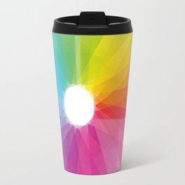 Geometric rainbow Travel Mug