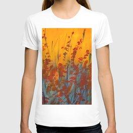 Wildflower Field Acrylic Painting T-shirt