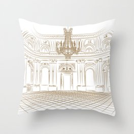 Royal Ballroom Throw Pillow