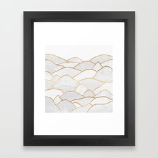 White Hills Framed Art Print