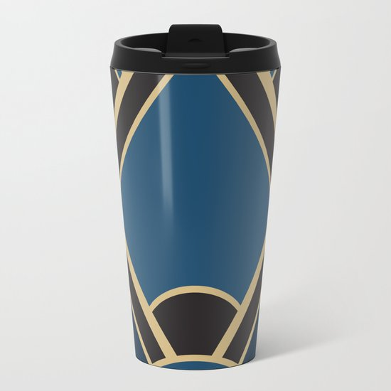 Art Deco New Tomorrow In Blue Travel Mug