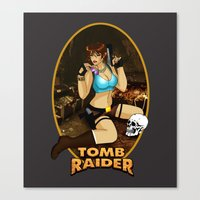 tomb raider Canvas Prints featuring Tomb Raider by Orphen5