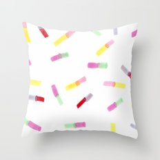Happy Capsules Throw Pillow
