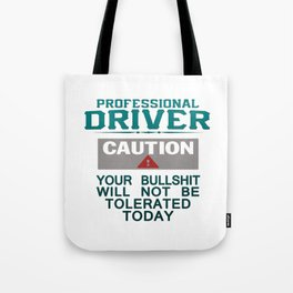 Truck Driver Safety Tote Bag
