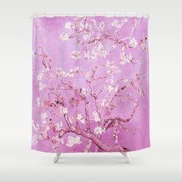 Vincent Van Gogh Almond BlossomS. Pink Lavender Shower Curtain