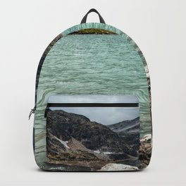 Weissee lake in Alps Backpack