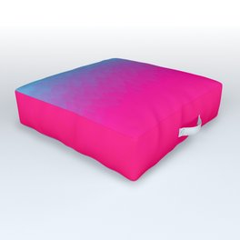 Blue purple and pink ombre flames Outdoor Floor Cushion