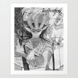 """Eh?"" ~ The Satyr Oarsman At Market Art Print"