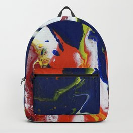 Fluid Bliss - Abstract, fluid painting Backpack
