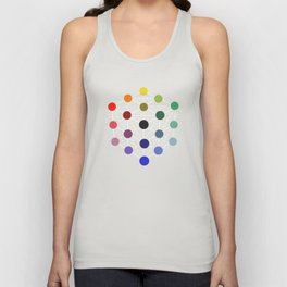 Colour cube (black point) from the Manual of the science of colour by W. Benson, 1871, Remake Unisex Tank Top