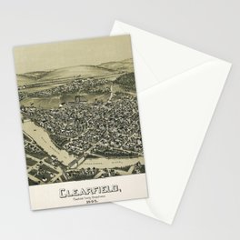 Aerial View of Clearfield, Pennsylvania (1895) Stationery Cards