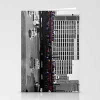blackhawks Stationery Cards featuring Chicago Blackhawks 2013 Championship Parade Route by Michael A. Hubatch