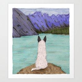 Keep Exploring (Cattle Dog) Art Print