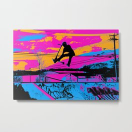Lets Fly!  - Stunt Scooter Metal Print