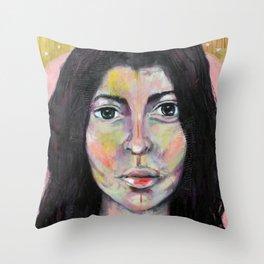 Lune rose Throw Pillow