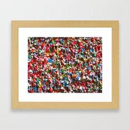 GUM WALL Framed Art Print