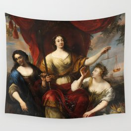Prudence, Justice, and Peace by Jürgen Ovens, 1662 Wall Tapestry