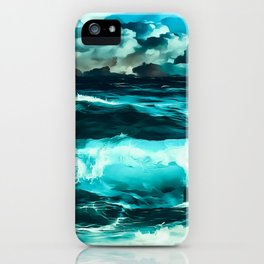 stormy sea waves reachb iPhone Case