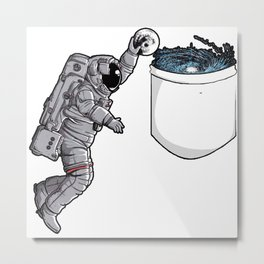 Space cosmo dunk pocket Metal Print