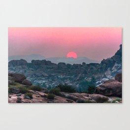 Otherworldly sunrise of Hampi, India Canvas Print