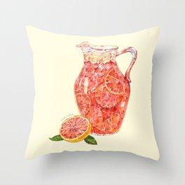 Grapefruit Ade Throw Pillow