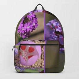 Purple Violet Pink Flowers Collage Backpack