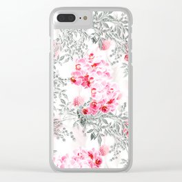 PINK ORCHIDS IN SPRING BLOOM Clear iPhone Case
