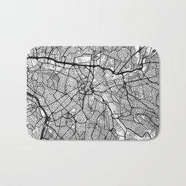 Sao Paulo Map Gray Bath Mat