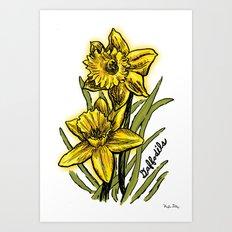 Daffodils Art Print