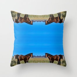 Wild_Horses 0163 - Nevada Throw Pillow