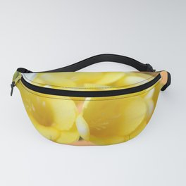 Happy yellow fresias Fanny Pack