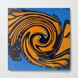 Monarch, Spiralized Metal Print