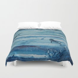 Sharks in deep blue Duvet Cover