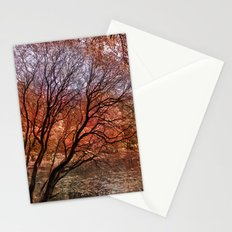 Mad colors of Autumn Stationery Cards