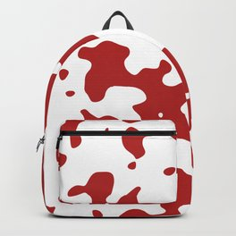 Large Spots - White and Firebrick Red Backpack