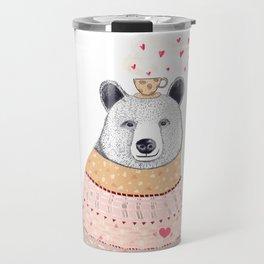 Bear lover of coffee Travel Mug