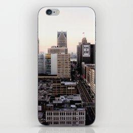 Downtown Detroit Skyline Woodward Avenue iPhone Skin