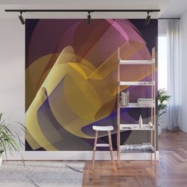 Modern colourful abstract with optical effects Wall Mural